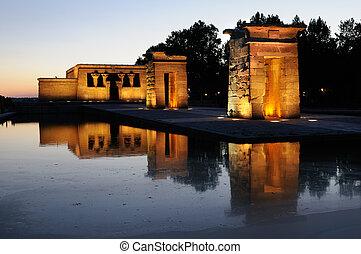 Temple of Debod, Madrid, Spain - Temple of Debod, Templo de...