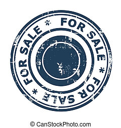 For sale concept stamp
