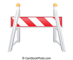 road barrier vector illustration isolated on white...