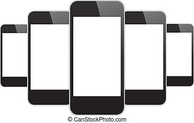 Black Mobile Phones Illustration