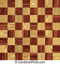chessboard - illustration of a beautiful wood chessboard...