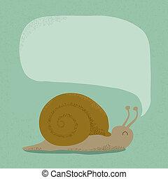 Snail bubble speech
