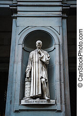 Statue of Nicollo Macchiavelli, the famous Italian...