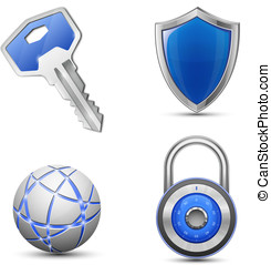 Security and protection symbols Privacy and secrecy concept...