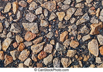 macadam - background made of a lot of stones