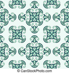 Vector seamless paisley pattern, can be used as texlile or...