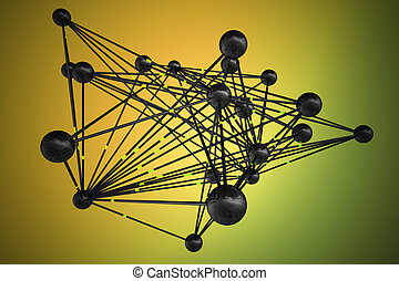 Data connections - Abstract representation of connections,...