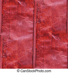 seamless red, old, iron, crumpled, old background wall...