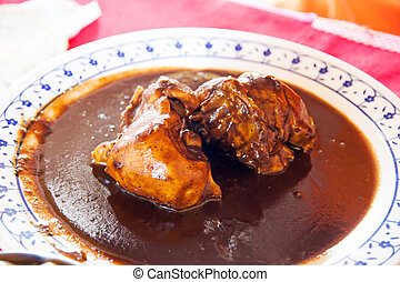 Mexican mole - A typical mexican dish, chicken in brown mole