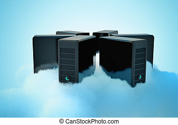 Cloud computing. - Cloud computing conceptual image....