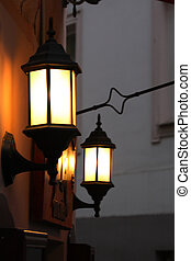 street lamp - A street lamp corner under the snow
