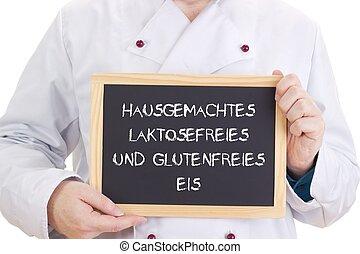 Hausgemachtes laktosefreies und glutenfreies Eis