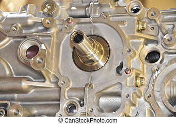 Subaru Engine focusing on the crank shaft