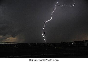 Colorado Lightening - Colorado lightning bolt in a local...