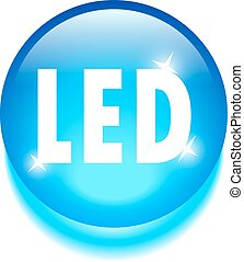 Led technology icon isolated on white background