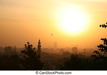 Cairo Sunset - Sunset over Old Cairo