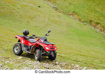 all terrain vehicle in the mountains