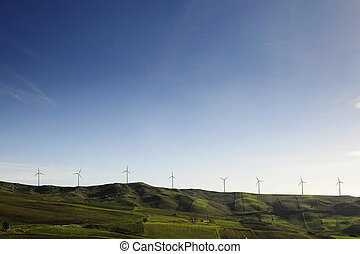 Wind generators on a mountain reign - Wind generators,...