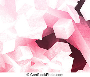 Crystal cubes - Crystal 3d cubes abstract background design...