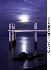 Windsor Moonrise - The full moon rising over Lake St. Clair...