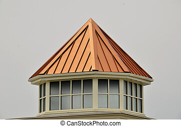 Copper roof - Found here on a roof extension in Eastern US