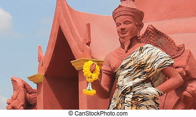 Buddhist Statue At Temple - A Buddhist statue at a temple...