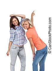 mulheres, junto, Dançar