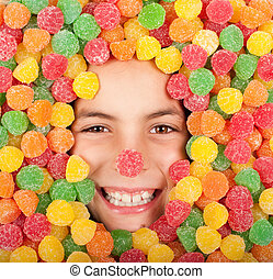 buried on jellybeans - little girl buried on colored...