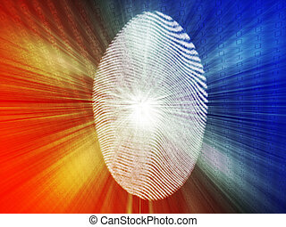 Digital fingerprint biometric security indentifaction,...