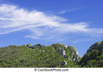 Santo Domingo Mountains in Zaragoza, Aragon, Spain
