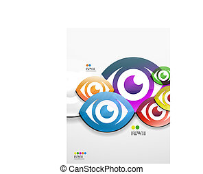 Colorful abstract 3d paper background