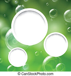 Vector Background with Shiny Bubbles