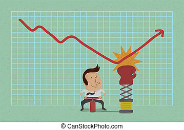 Businessman with business graph