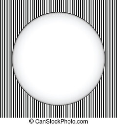 Circle Border Black and White Stripes - Vector - Circle...