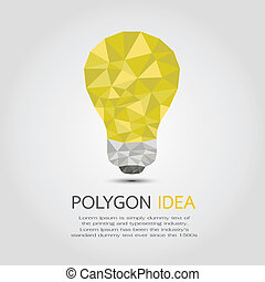 Polygon Idea , eps10 vector format