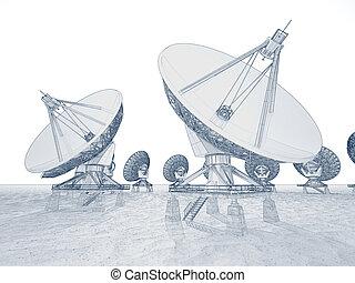 Satellite dish.