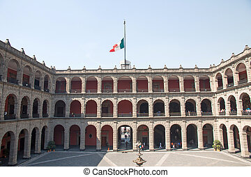 Palacio National, Mexico City - The National Palace in...