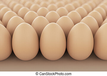 Eggs - Image of brown eggs arranged in rows Perfect for...