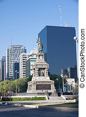 Cuitlahuac monument in the Grand Passeo, Mexico City - The...