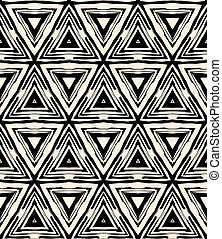 1930s art deco geometric pattern with triangles - Texture...