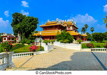 Chinese style palace of Wehart Chamrunt in Bang Pa-In...