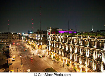 Zocalo, mexico City - A view of an old palace of the Zocalo,...