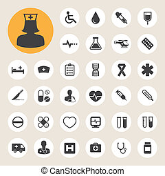 Medical icons set,Illustration - Medical icons set,...
