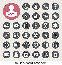 Medical icons set,Illustration - Medical icons set, ....