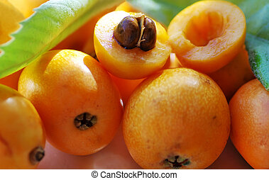Loquat Medlar Fruit