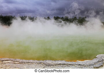 Vent - Beautiful volcanic hot spring in Rotorua, New Zealand