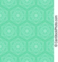 Mint green geometric pattern in 60s style