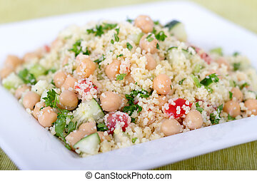 couscous salad with chick peas