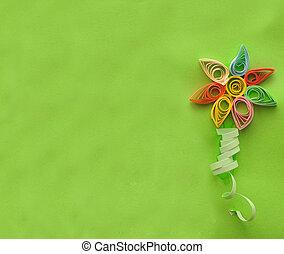 lotka, papier, kwiat