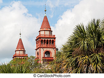 Towers Flagler College, St Augusti - Close-up towers Flagler...